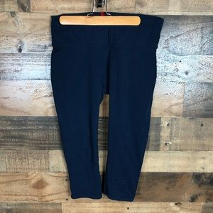 Spanx blue cropped leggings